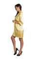 Custom Rhinestone Yellow Satin Robe
