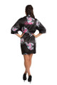 Personalized Embroidered Black Floral Robe