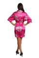Personalized Embroidered Fuchsia Floral Robe