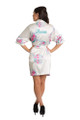 Personalized Embroidered White Floral Robe