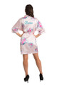 Personalized Embroidered Pink Floral Robe