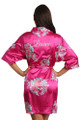Personalized Embroidered Fuchsia Floral Robe Crop