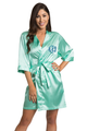 Personalized Embroidered Monogram Mint Green Robe