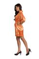 Personalized Print Glitter Print Orange Satin Robe