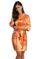Personalized Print Embroidered Orange Robe