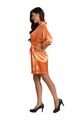 Personalized Print Rhinestone Orange Robe