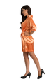 Personalized Print Embroidered Monogram Orange Robe