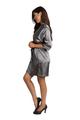 Personalized Glitter Grey Satin Robe