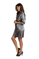 Personalized Embroidered Grey Satin Robe