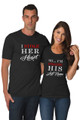 Matching Couple I Stole Her Heart So I'm Stealing His Last Name T-Shirt Set