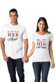 White Matching Couple I Stole Her Heart So I'm Stealing His Last Name T-Shirt Set