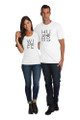 White Couples Matching Hubs and Wife T-Shirt Set Full