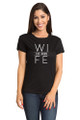 Black Matching Hubs and Wife T-Shirt Set