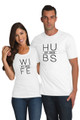 White Couples Matching Hubs and Wife T-Shirt Set Crop