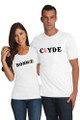 White Couples Matching Bonnie and Clyde T-Shirt Set Crop
