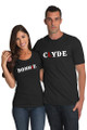 Black Couples Matching Bonnie and Clyde T-Shirt Set Crop