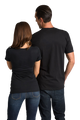 Black Couples Matching Bonnie and Clyde T-Shirt Set Crop Back