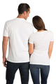 White Couples Matching Bonnie and Clyde T-Shirt Set Crop Back