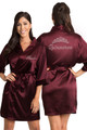 Wine Personalized Rhinestone Quinceañera Robe Crop
