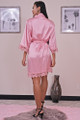 Satin Robe with Lace