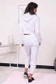 white hoodie jogger set for women