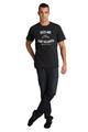 black crewneck shirt
