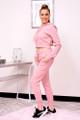 pink jogger set
