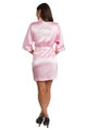 personalized pink robe