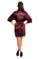 personalized maroon satin robe