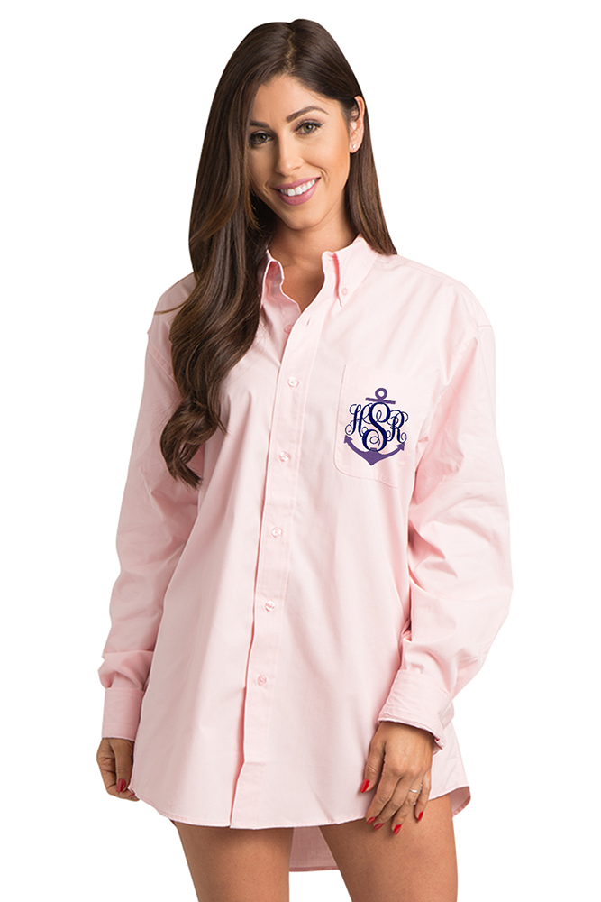 Set of 5 Five Monogram Oxford Button Down Up Shirts for Bride Button Down Shirts Bulk Discount Mother of Bride Bridesmaids Bridal Party