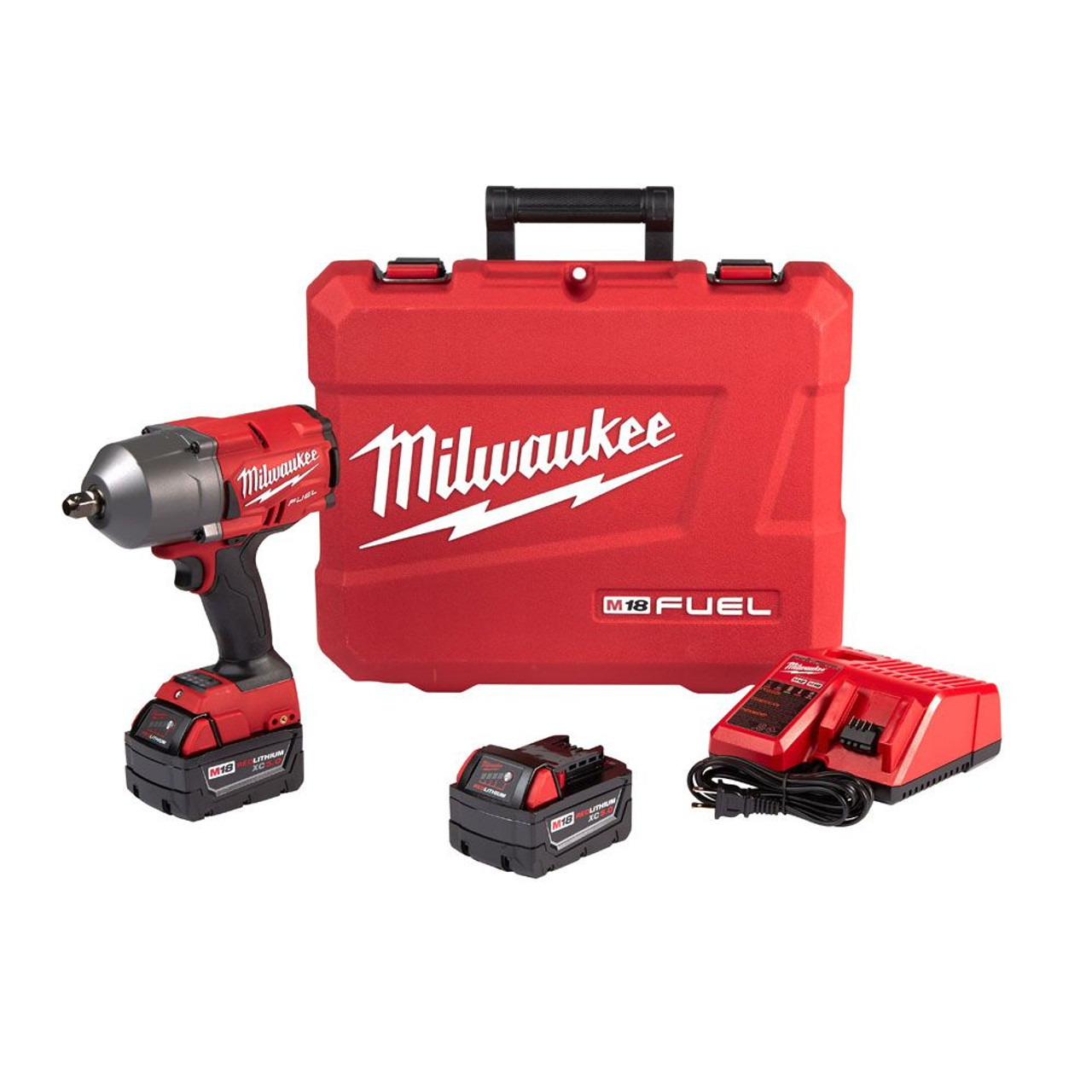 Milwaukee 2863 22 M18 FUEL ONE KEY High Torque Cordless Impact Wrench 1 2 Friction Ring Kit
