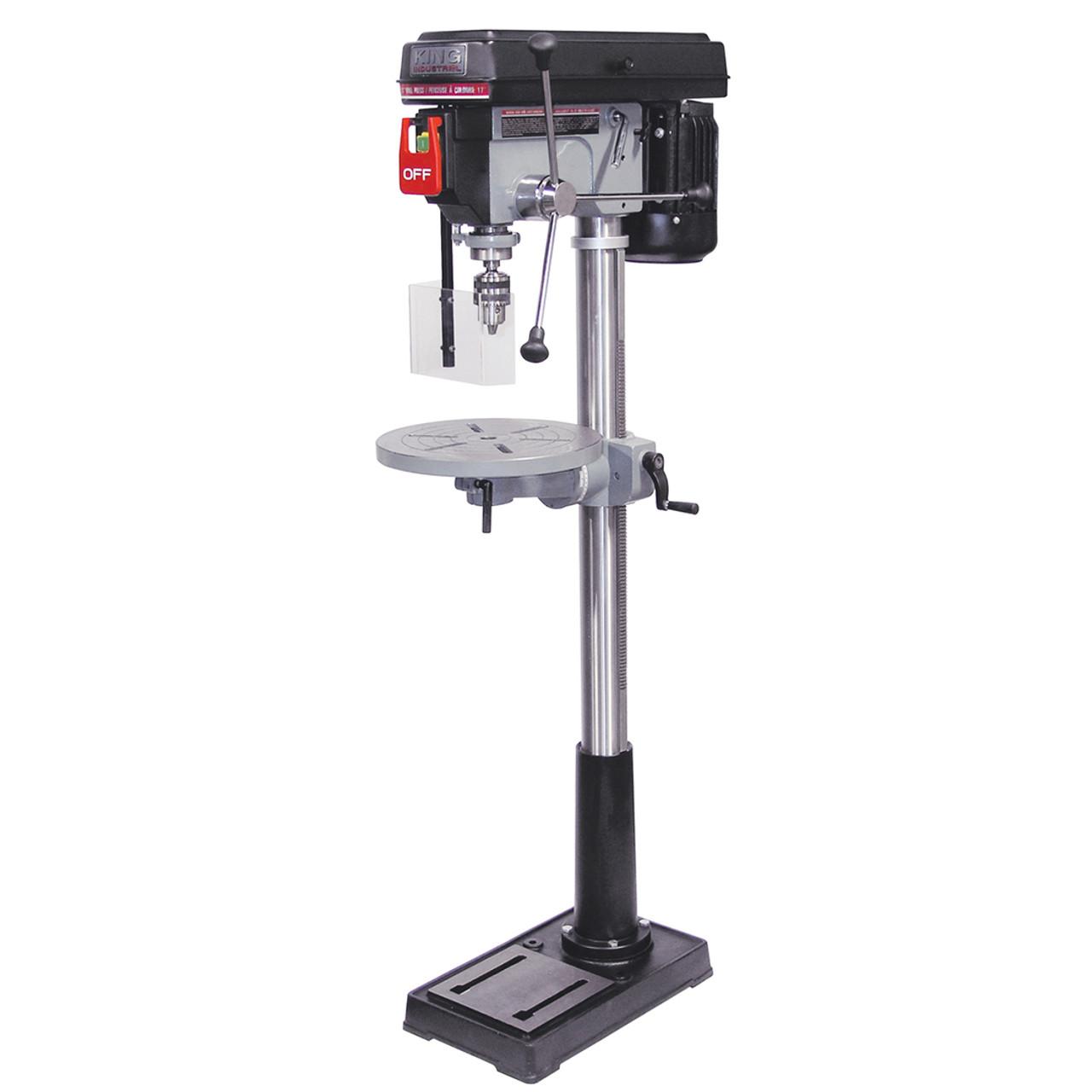 Drill Press Guard >> King Industrial Kc 118fc Ls 17 Drill Press With Safety Guard