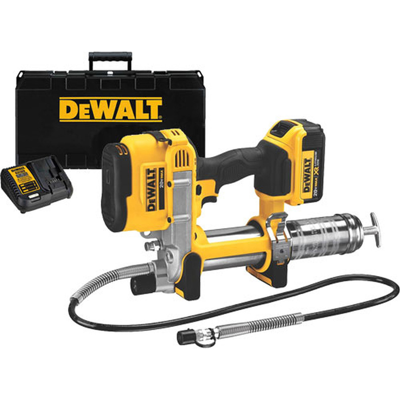 Electric Grease Gun >> Dewalt Dcgg571m1 20v Max Li Ion Grease Gun 4 0ah With Battery And Kit Box