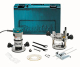 Makita MAK-RF1101KIT 11.0A 2-1/4HP Fixed + Plunge Base Router Kit