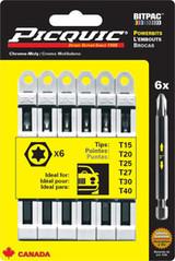 PicQuic PIQ-95003 Torx Multipack - T15-40