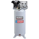 King Industrial KING-KC-6160V3  60Gallon, 6.5 Peak HP, 11.2 SCFM AT 90PSI, 2 Cylinder Air Compressor