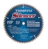 "Tenryu TEN-SL-25550TC 10"" Silencer 50T, 5/8,.110 Kerf  ATAF Raker/Planer Blade"