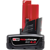 Milwaukee 48-11-2440  M12 4.0AH Red Lithium Battery