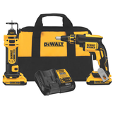 Dewalt DCK263D2  20V MAX Brushless Drywall Screwgun & Cut-Out Tool Combo Kit (2.0Ah)