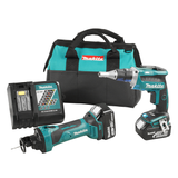Makita DLX2089M  18V LXT 2 Tool Drywaller Combo 4Ah Kit + FREE Autofeed Screwdriver Attachment