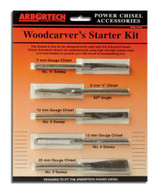 Arbortech ARB-PCH.FG.033 WoodCarvers Starter Kit of 5 Chisels