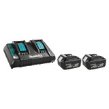 Makita Y-00315  18V 2 x 4.0Ah Li-Ion Battery & Dual-Port Rapid Charger Kit