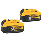 DeWALT DCB205-2  2 Pack of 20V MAX Li-Ion Battery 5.0AH