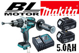 "Makita DHP481RTE 1/2"" Cordless Hammer Driver-Drill with Brushless Motor - 5.0Ah Kit"