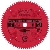"Freud FRE-LU91R012  12"" 72 Tooth ATB Thin Kerf Sliding Miter Saw Blade with 1"" Arbor"