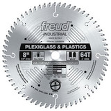"Freud FRE-LU94M008  8"" 64 Tooth Full Kerf MTCG Plexiglass & Plastics Blade"