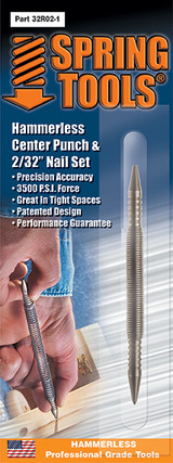 "Spring Tools SPR-32R021  Combination Center Punch & 1/16"" Nail Set"