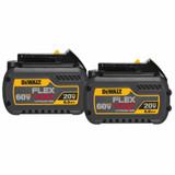 DeWALT DEW-DCB606-2  2 Pack - 20V/60V MAX Flex Volt 6.0 Ah Batteries