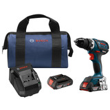 Bosch DDS183-01 18V EC Brushless Compact Tough 1/2 In. Drill/Driver Kit with 2x 2.0Ah Batteries