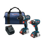 Bosch CLPK238-181  18 V 2-Tool Combo Kit with EC Brushless Socket-Ready Impact, Compact Tough Drill/Driver and 2x 2.0Ah Batteries